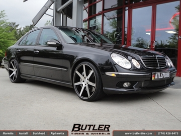 Mercedes E-Class with 20in Niche Verona Wheels