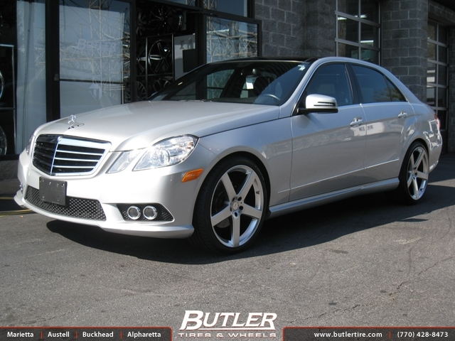 Mercedes E-Class with 20in TSW Rivage Wheels