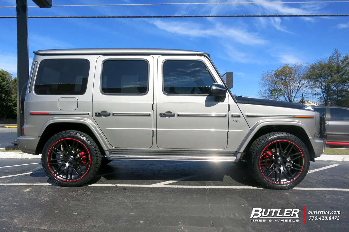 Mercedes G-Class with 22in Brabus Monoblock F Wheels