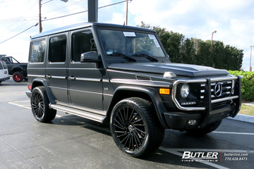 Mercedes G-Class with 22in Lexani Wraith Wheels