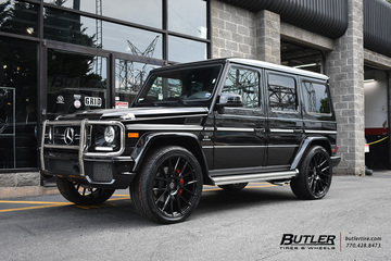 Mercedes G-Class with 24in Avant Garde AGL-Vanquish Wheels