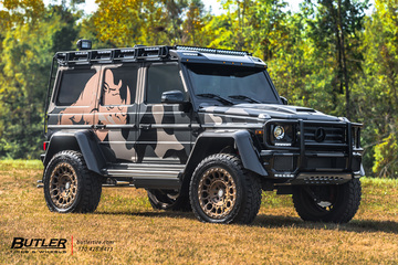 Mercedes G550 4x4 Squared with 22in Formula Defender Wheels
