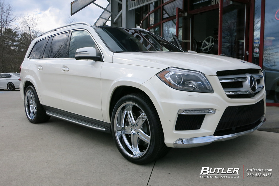 Mercedes gl class with 22in mandrus mannheim wheels for Mercedes benz tire inflator