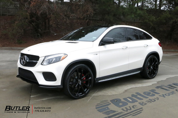 Mercedes GLE with 24in Mandrus Wolf Wheels