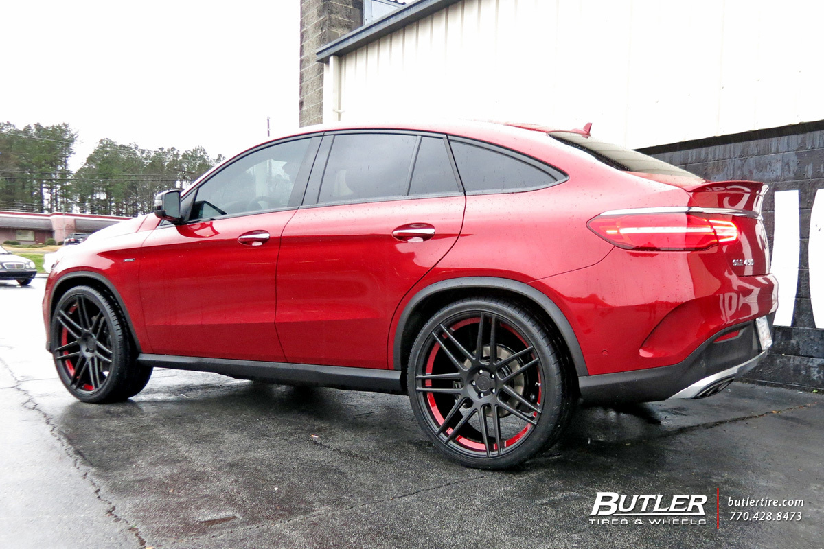 Mercedes GLE with 24in Niche Esses Wheels