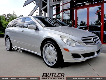 Mercedes R-Class with 22in Lexani Opus Wheels