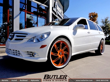 Mercedes R-Class with 26in Forgiato Azioni Wheels