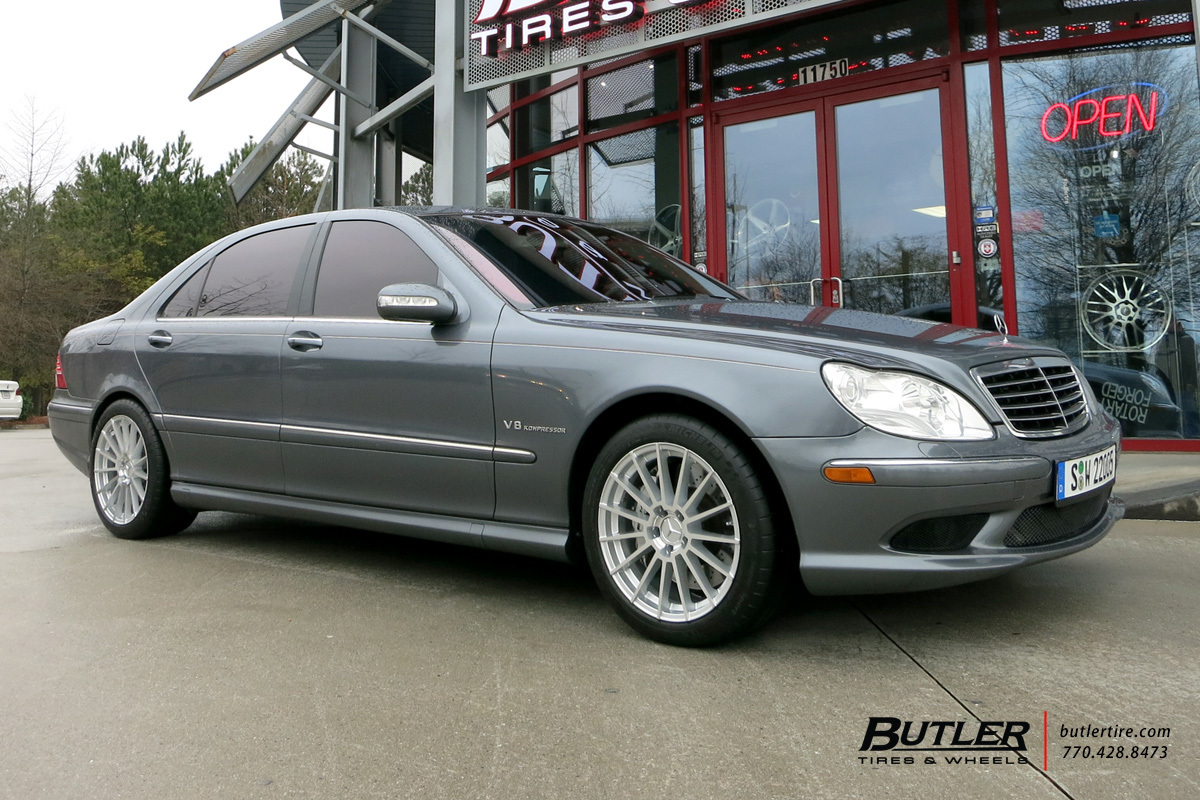 Mercedes S-Class with 18in Mandrus Stirling Wheels