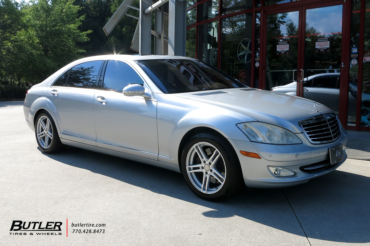 Mercedes S-Class with 18in TSW Mechanica Wheels