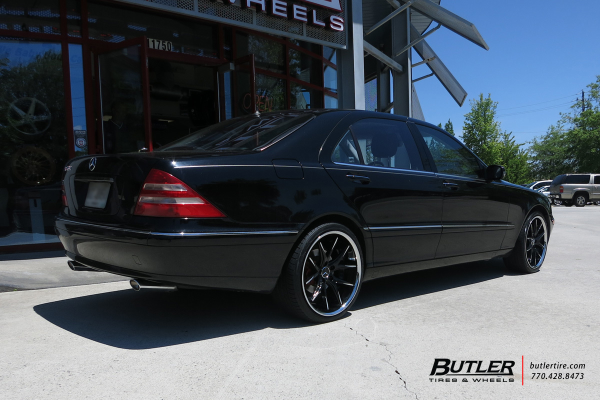 Mercedes S-Class with 20in Lexani R-Twelve Wheels