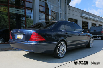 Mercedes S-Class with 20in Mandrus Rotec Wheels