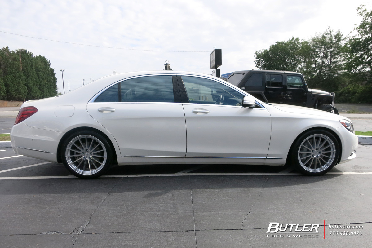 Mercedes S-Class with 20in Mandrus Stirling Wheels