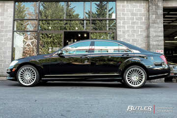 Mercedes S-Class with 20in TSW Turbina Wheels