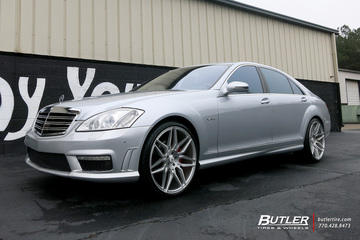 Mercedes S-Class with 22in Asanti ABL11 Wheels