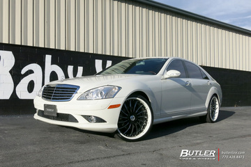Mercedes S-Class with 22in Asanti AF815 Wheels