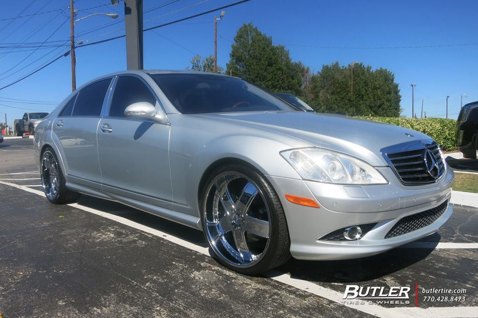 Mercedes s class with 22in dub tremio wheels exclusively for Mercedes benz tire inflator