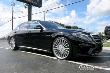 Mercedes S-Class with 22in Forgiato Tec Mono 1.1 Wheels