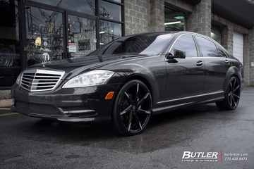Mercedes S-Class with 22in Lexani CSS7 Wheels