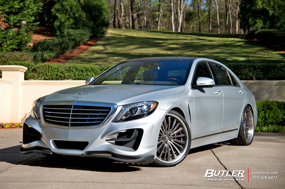 Mercedes S Class With 22in Lexani Lf722 Wheels Exclusively