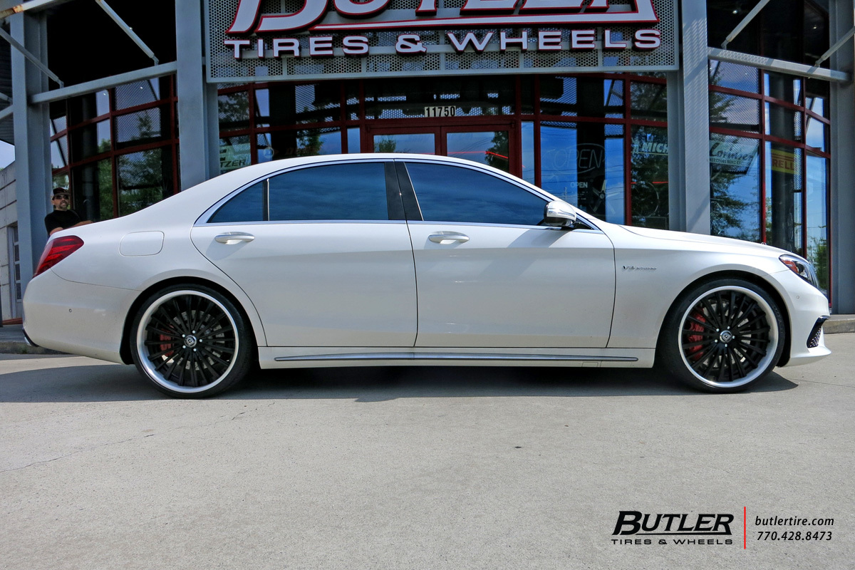 Mercedes S-Class with 22in Lexani LF722 Wheels