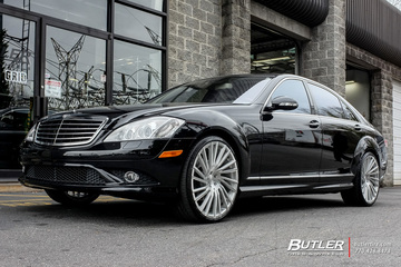 Mercedes S-Class with 22in Lexani M119 Wheels