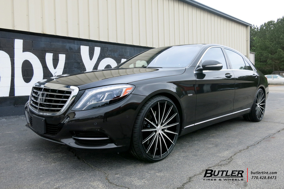 Mercedes s class with 22in lexani pegasus wheels for Mercedes benz tire inflator