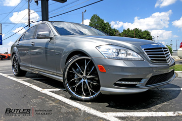Mercedes S-Class with 22in Lexani Polaris Wheels