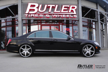 Mercedes S-Class with 22in Lexani R-Six Wheels