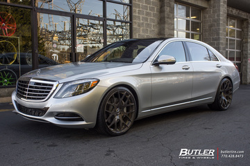 Mercedes S-Class with 22in Mint M100 Wheels