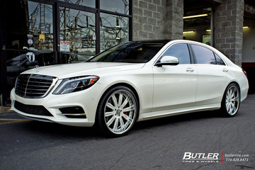 Mercedes S-Class with 22in Mint X Wheels