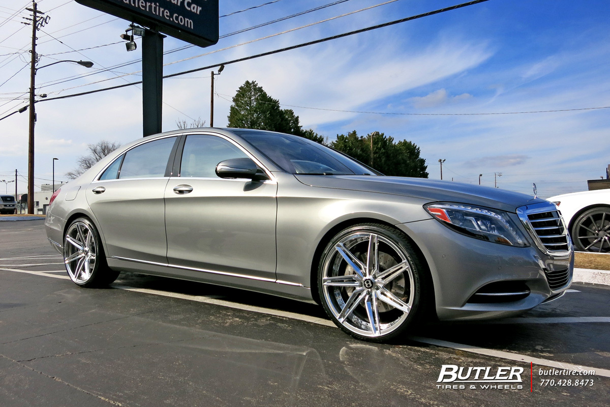 Mercedes s class with 22in savini sv58d wheels exclusively for Mercedes benz south atlanta service