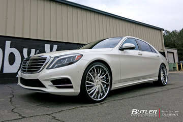 Mercedes S-Class with 22in Savini SV64 Wheels
