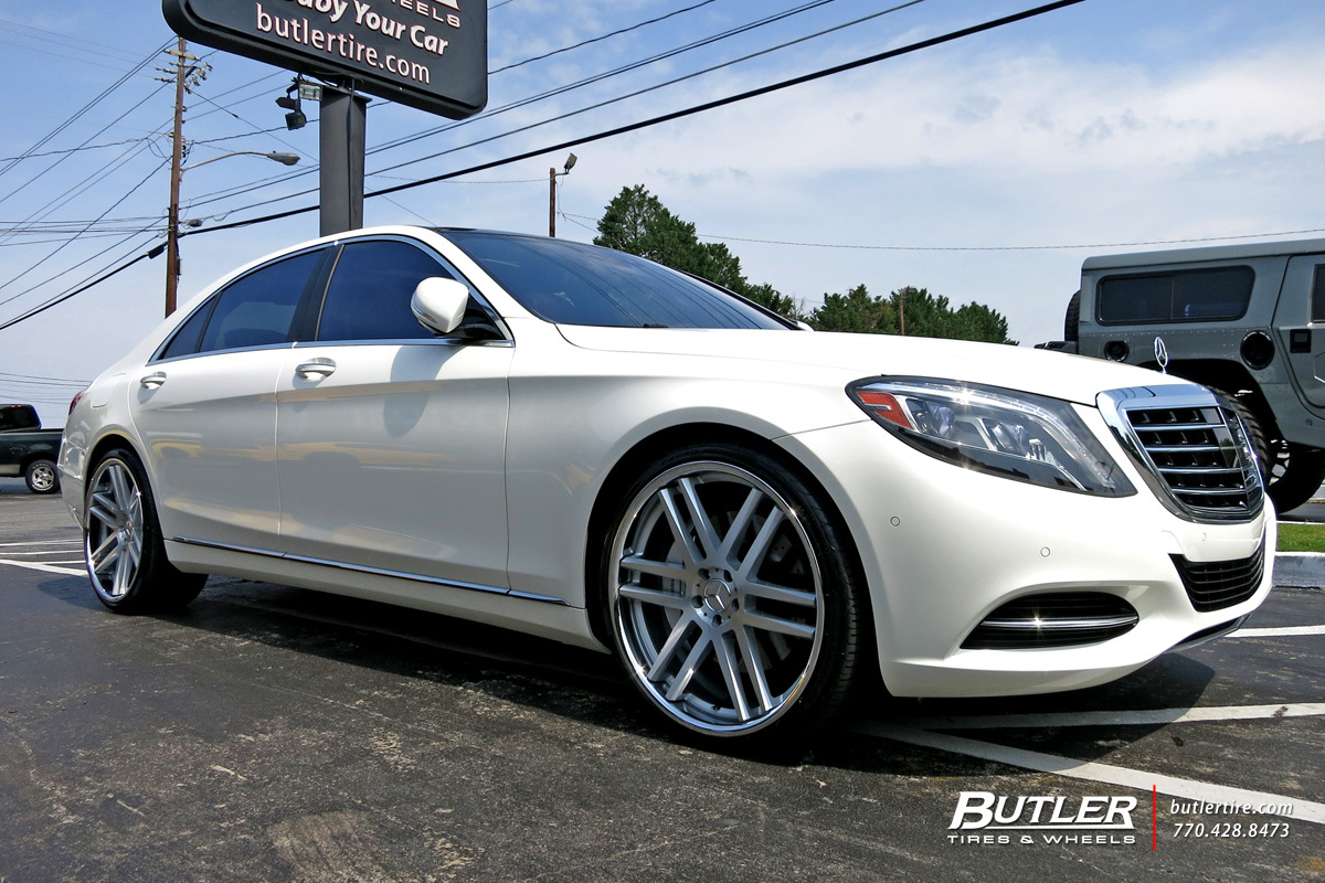 Mercedes S-Class with 22in TSW Rouen Wheels