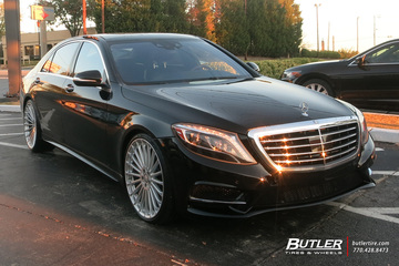 Mercedes S-Class with 22in TSW Turbina Wheels