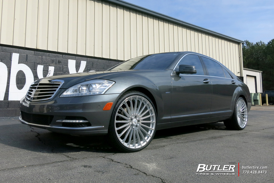 Mercedes s class with 22in tsw turbina wheels exclusively for Mercedes benz tire inflator