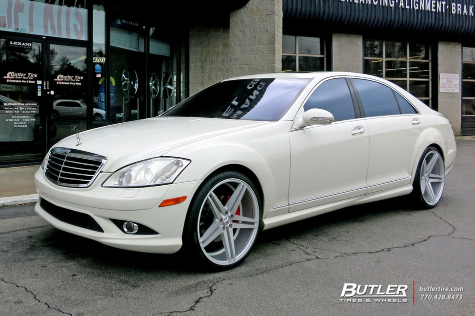 Mercedes S Class With 22in Verde Parallax Wheels