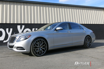 Mercedes S-Class with 22in Vossen HF-2 Wheels