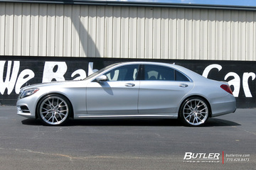 Mercedes S-Class with 22in Vossen M-X3 Wheels