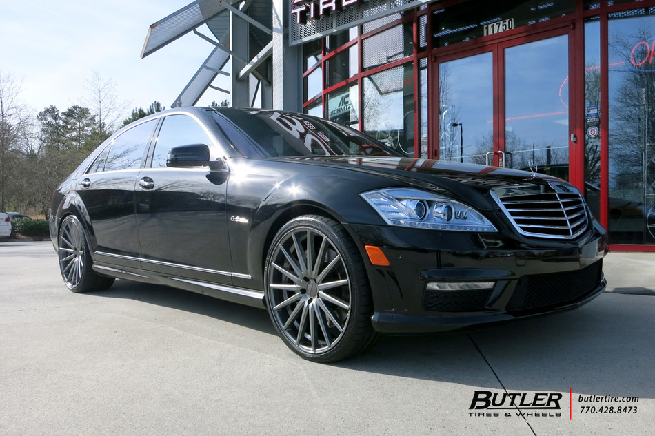 Mercedes S-Class with 22in Vossen VFS2 Wheels exclusively from Butler Tires and Wheels in ...
