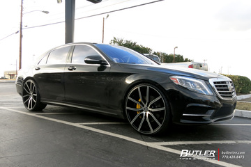 Mercedes S-Class with 24in Lexani Gravity Wheels