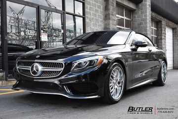 Mercedes S-Class Coupe with 20in Forgiato Fratello Wheels