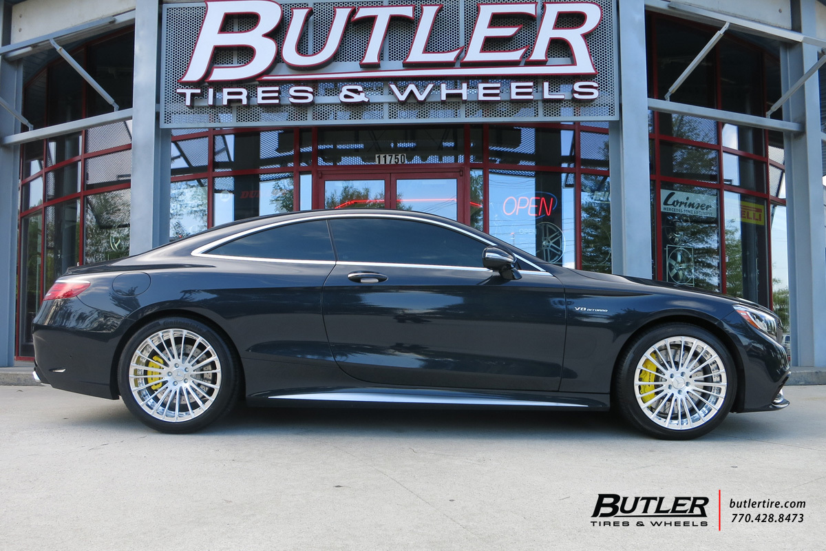 Mercedes S-Class Coupe with 20in Savini SV61d Wheels