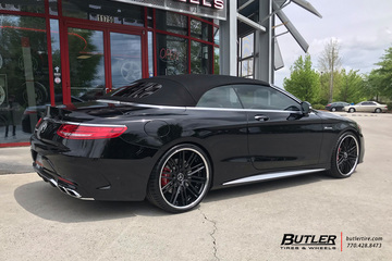 Mercedes S-Class Coupe with 22in AG Luxury AGL12 Wheels