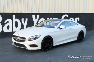 Mercedes S-Class Coupe with 22in Avant Garde M580 Wheels