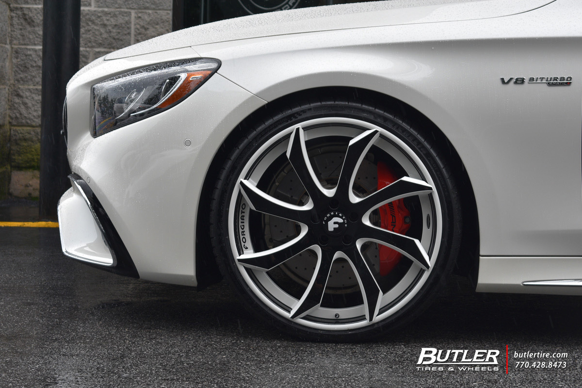 Mercedes S-Class Coupe with 22in Forgiato Fondare ECL Wheels