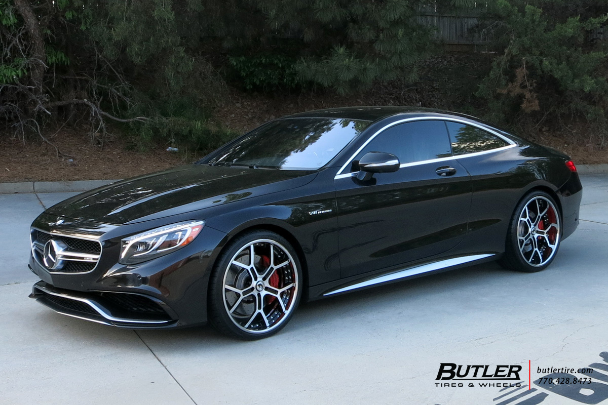 Mercedes S-Class Coupe with 22in Forgiato GTR Wheels