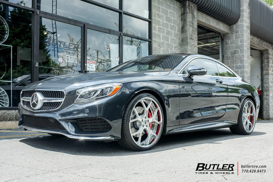 Mercedes S-Class Coupe with 22in Forgiato GTR Wheels exclusively from Butler Tires and Wheels in ...