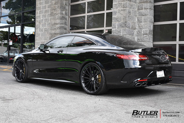 Mercedes S-Class Coupe with 22in HRE P103 Wheels