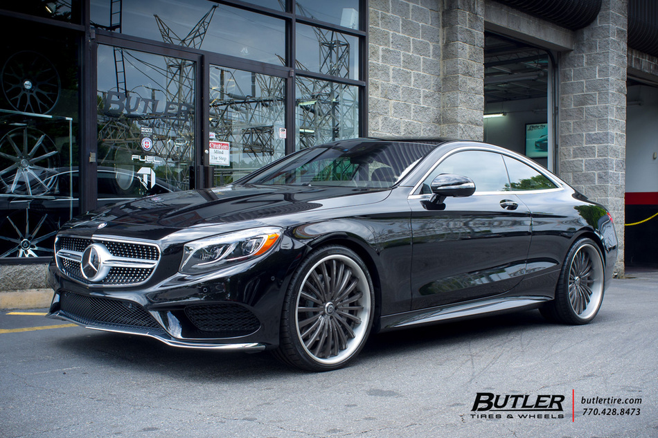 Mercedes S Class Coupe With 22in Lexani Lf722 Wheels