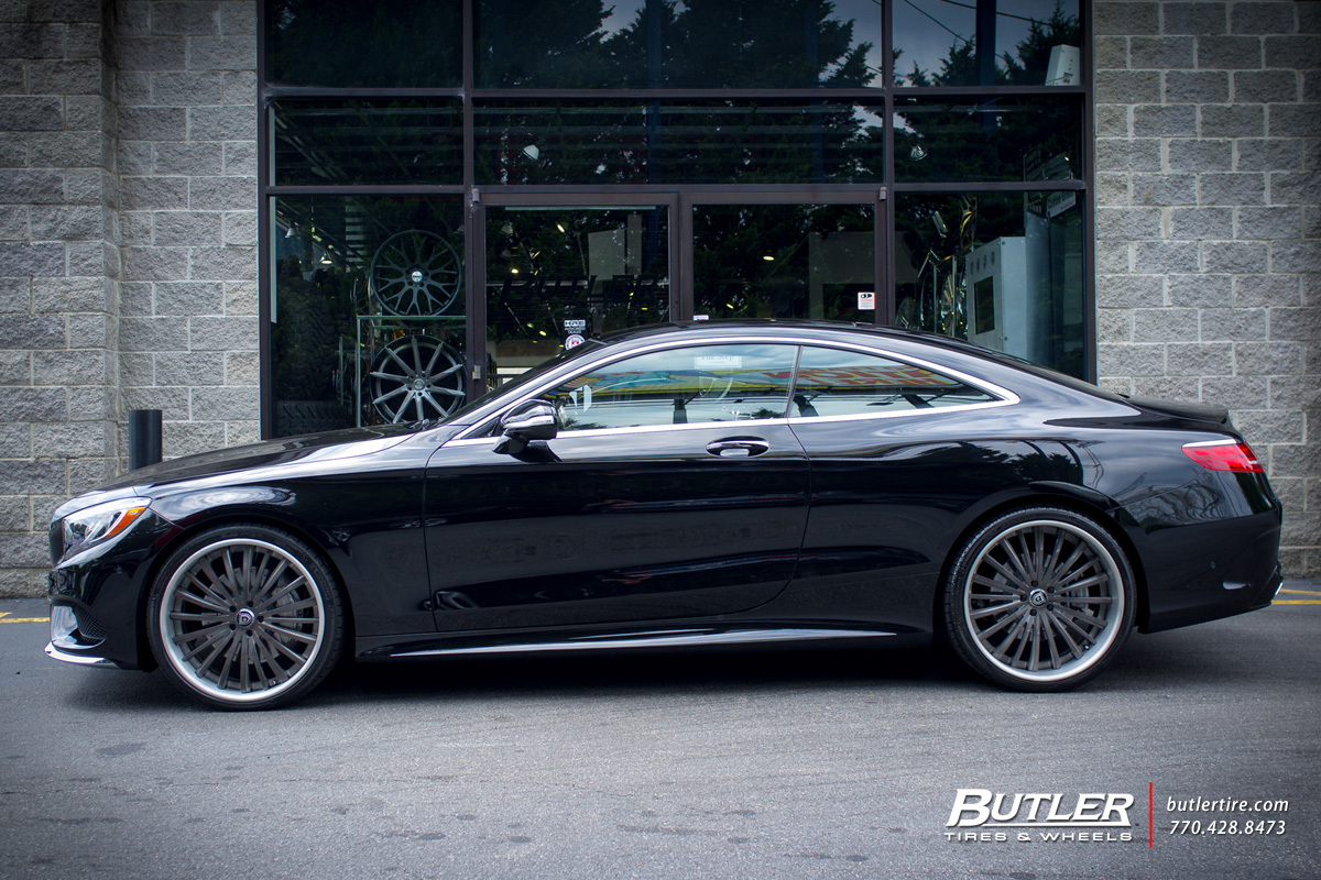 Mercedes S-Class Coupe with 22in Lexani LF722 Wheels